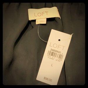 LOFT Dresses - LOFT Off Shoulder Fit and Flare Dress NWT Size L